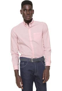 Camisa Lacoste Regular Fit Rosa
