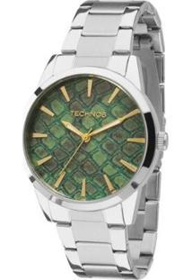 Relógio Technos Trend Feminino Analógico - 2039Ba/1V 2039Ba/1V - Feminino-Prata