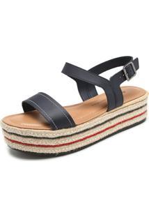 Sandália Dakota Corda Azul-Marinho