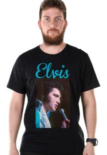 Camiseta Bandup Elvis Presley 70S Songs Preto