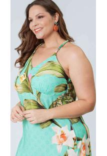 Vestido Almaria Plus Size Munny Curto Detalhe Alça