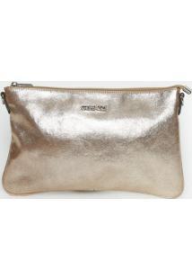 Bolsa Transversal Com Corrente - Bronze- 18X29X1Cmgriffazzi