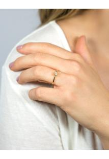 Anel Solitário De Ouro 18K Diamante 20 Pontos To Love