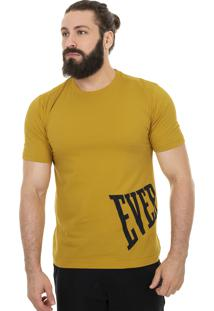 Camiseta Everlast Logo Estourado Lateral Amarelo