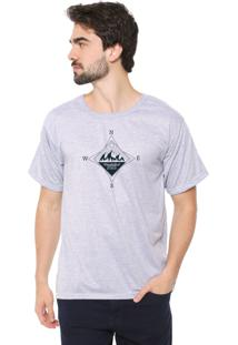 Camiseta Eco Canyon Compass Cinza