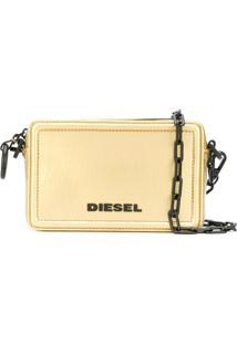 Diesel Bolsa Transversal Com Logo - Dourado