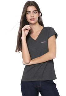 Camiseta Planet Girls Logo Bordado Grafite