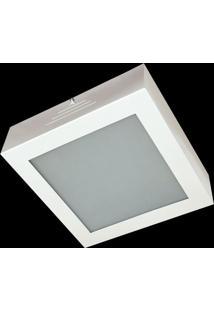 Plafon Evolution Aluminio E Vidro Peq 061 Branco Bivolt