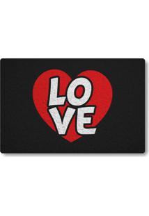 Tapete Capacho Love E Coração