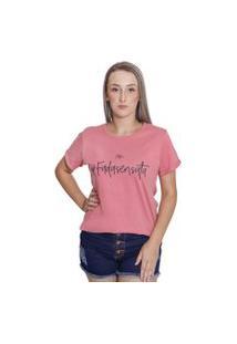 Bella Isa - Camiseta T Shirt Feminina Fada Sensata Rosa - Bi4009-Rs