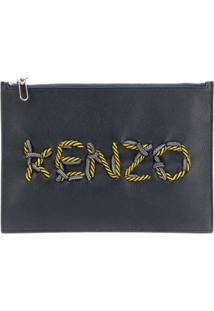 Kenzo Kontrast Clutch - Preto