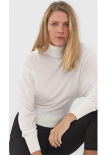 Blusa Maria Filó Drapeada Off-White - Kanui