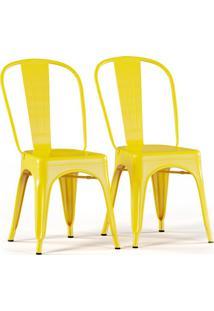 Conjunto Com 2 Cadeiras Tolix Amarelo