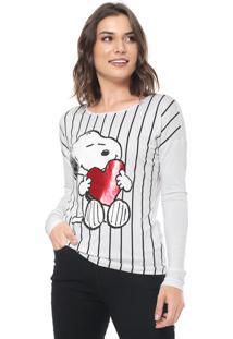 Blusa Cativa Snoopy Snoopy Branca