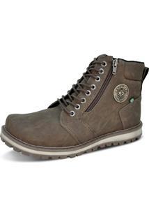 Bota Cr Shoes Looks Zíper Marrom
