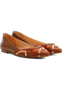 Sapatilha Shoestock Bordado Feminina - Feminino-Marrom