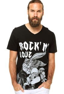 Camiseta Fashion Comics Rockn Love Preta