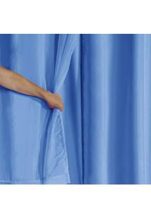 Cortina Blackout Pvc Com Tecido Voil 2,80 M X 1,60 M Azul - Multicolorido - Dafiti