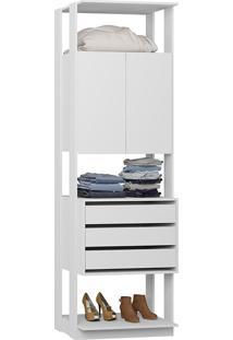 Estante Armário C/ Gaveteiro Clothes – Be Mobiliário - Branco