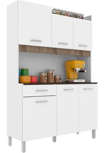 Cozinha Compacta Malaga 6 Pt 1 Gv Branca