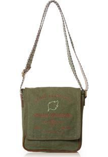 Bolsa Blue Bags Tiracolo Reciclada Bordado Terra - Verde Militar - Dafiti