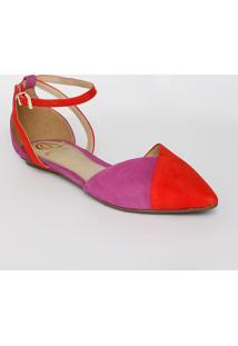 Sapatilha Bicolor - Roxa & Vermelhadumond