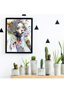 Quadro Decorativo Com Moldura Face Preto
