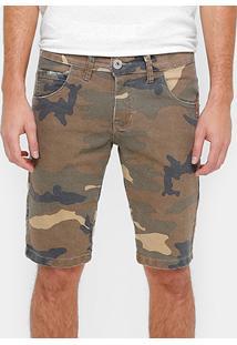 Bermuda Jeans Rock & Soda Camuflado Masculina - Masculino