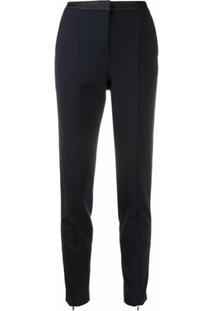 Karl Lagerfeld Calça De Alfaiataria Com Logo - Azul