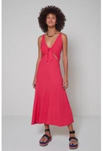 Vestido Vazado Lateral Pop Oh, Boy! Feminino - Feminino-Rosa