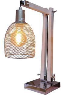 Luminária De Mesa Articulada Gaiola