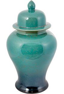 Vaso Decorativo De Porcelana Longyou - Linha Blue Tiffany