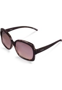 Óculos De Sol Quadrado Feminino Acetato Tigrado Marrom