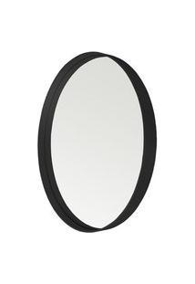 Espelho Manaus Redondo Prata Borda Preta 75Cm - 62676 Sun House