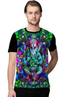 Camiseta Stompy Psicodelica36 Masculina - Masculino-Preto