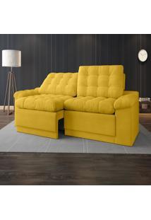 Sofã¡ 4 Lugares Net Confort Assento Retrã¡Til E Reclinã¡Vel Canã¡Rio 2,20M (L) - Amarelo - Dafiti