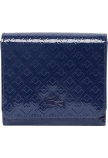 Carteira Geométrica - Azul Marinho - 8,5X11X2Cmlacoste