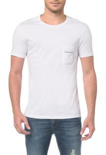Camiseta Ckj Mc Bolso Peito - Branco 2 - Pp