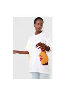 Camiseta Colcci Face Off-White