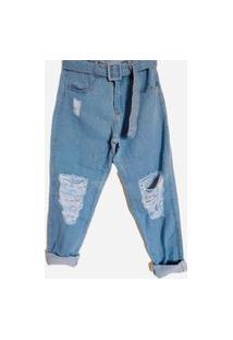 Calça Jeans Clara Rasgada