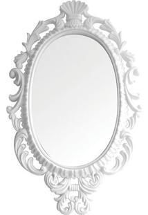 Espelho Oval Giant Princess- Espelhado & Branco- 73Xbtc Decor