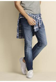 Calça Jeans Special Denim Masculina Slim Com Detalhes Destroyed Hering
