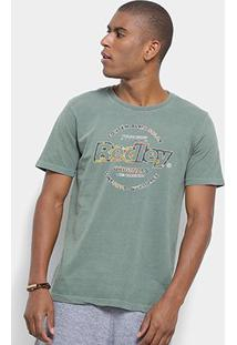 Camiseta Redley Originals Estampada Masculina - Masculino-Verde Militar