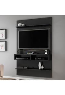 Painel Para Tv Até 47 Polegadas 2 Prateleiras Vega 2075021 Preto Fosco - Bechara Móveis