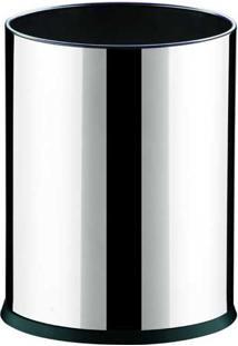"""Cesto / Lixeira 4,5L De Aço Inox Com Fundo Plástico Em Design Moderno """" Ideal Para Escritório """" 17X22Cm Decorline - Brinox"""