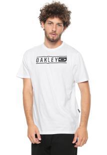 Camiseta Oakley Scout Lettering Branca