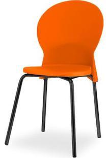 Cadeira Luna Assento Laranja Base Preta - 53831 - Sun House