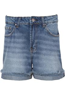 Bermuda Le Lis Blanc Classic Reta Jeans Azul Feminina (Jeans Médio, 48)