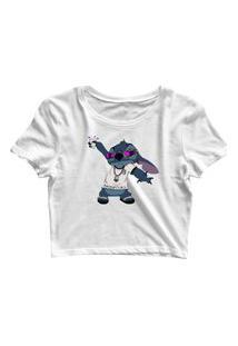 Blusa Blusinha Feminina Cropped Tshirt Camiseta Branco