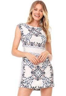 Vestido Dress To Curto Azulejo Branco